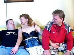 Real German Full-grown Couple get First Trilogy with Stranger