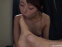 Cute Japanese inclusive Sakurai Moe knows how to pleasure a dude