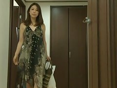 Solo Japanese wife drops her panties to pleasure her cravings