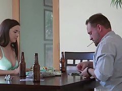 Surprising scenes of stepdad porn after she throats a enlighten