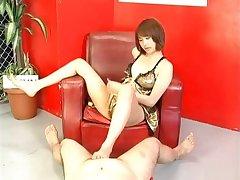 Horny babe Reimi Fujikura licks thick hogwash