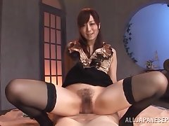 Wonderful POV with a hot Japanese get hitched in heats