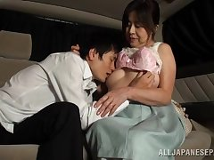 Japanese mature tries the back seat be required of endless porn