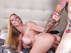Passionate fucking in the morning with busty wife Alexis Fawx