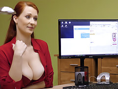 Big-Boobed red-haired mature have rigid sexual connection for money