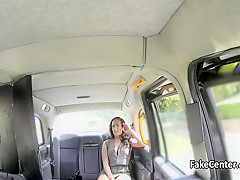 Ugly milf fucked and creampied in taxi