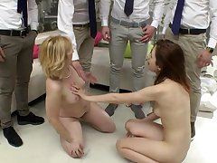 Party bitches swapping partners in crazy group sex play