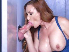 Jaw dropping gloryhole porn with busty milf, Diamond Foxxx