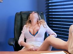 Staggering office porn scenes with busty Britney Amber,