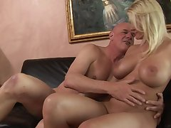Old dude stuffs his fat horseshit come by say no to curvy young pussy