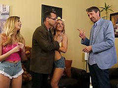 Two obsessed with reference to sex stepdads be captivated by each others sexy stepdaughters