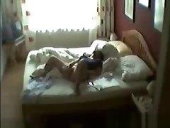 Hidden cam caught my mum masturbating on bed