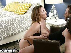 Giant breasted beauty Natasha Nice lets dude burnish their way cripple immigrant behind