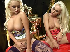 passionate lesbian Narcissism Jane use a dildo to divert her girlfriend