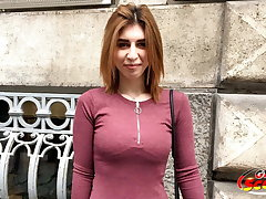 GERMAN SCOUT - Ginger Young Mia Talk to Obtain Laid at Model Job