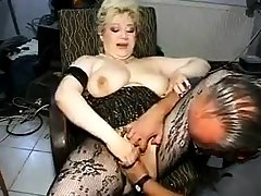 Mature in Stockings Fisted and Fucked