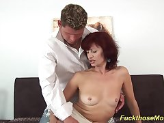 skinny sexy redhead czech mom enjoys rough fucking with say no to young toyboy