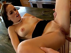 Alana Cruise is ready to do wholeness for amazing orgasm up a dude