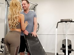 Eye catching hottie with beautiful booty Cherie Deville is fucked in the gym