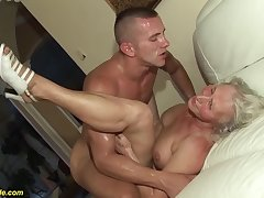marketable 76 ripen old granny gives a wikd tit fuck and extreme deepthroat be advantageous to her young toyboy