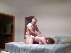 Naked Mom vigoriously fucks on hidden cam