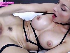 hot german blonde making out herself sensless on webcam