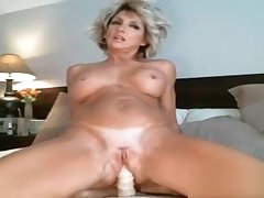Super hot amateur blonde milf dildo ridding