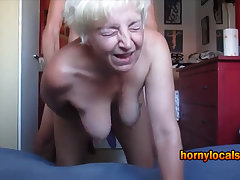 German granny roughly got laid on all fours