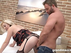 Milf bends turn over after sucking dick enough