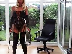 milf in PVC Coat & Leather Lace In the matter of Basque