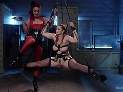 Lesbian femdom and brutal BDSM in XXX scenes