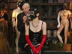 Full latex fetish and bizarre sexual scenes