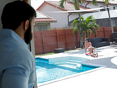 Vienna Black in Extra Wet Pool Day - FamilyStrokes