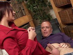 Devilish wife Emma Gluteus maximus with glasses fucked by a horny neighbor