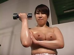 Busty Japanese Uses Her Big Boobs