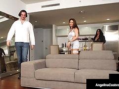Curvy Babes Angelina Castro & Roberta Gemma Share Enduring Cock!
