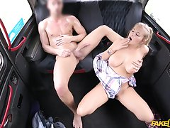 Super morose car fucking be worthwhile for big-chested bimbo Candy Alexa