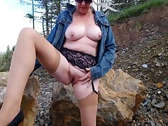 Debbie gets horny connected with a quarry