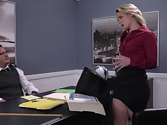 Hot business babe Lisey Sweet gives a stud something to think about
