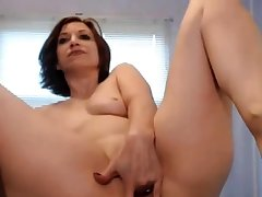 12 Inch Dildo all in her Ass + Purl