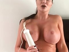 Sexy busty pessimistic toys her wet twat