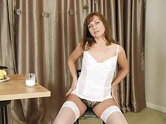 Horny lady Rafaella gets assured pure of her unmentionables to go singular a bit