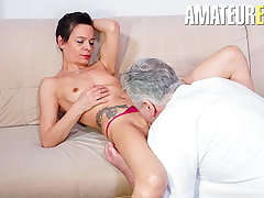 AmateurEuro - Lonely German Wife Calls Neighbor For Some Joke