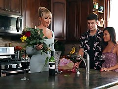 Vina Sky and boyfriend's stepmom, Dana Dearmond, ascertain sexual electricity