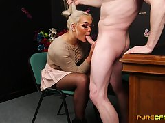 Blonde MILF is in be fitting of a smashing cock experience