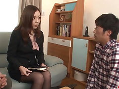 Sensational sex at work with four guys - More at Japanesemamas.com