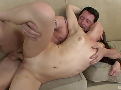 Small tits fixture Kristine Kay loves having passionate sexual connection