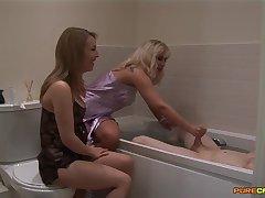 Homemade video of wife Jessica Pressley and Karlie Simon giving HJ