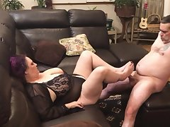 Pussy Skunk Foot Job and Fucked