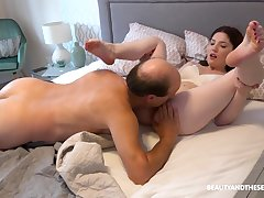 Hard sex in hem beside older step daddy